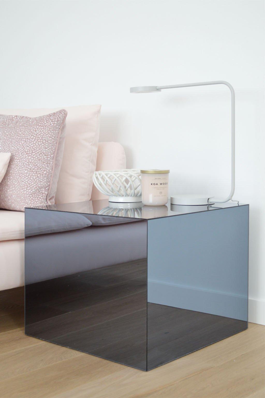 table de chevet nuit original miroir design pas chere