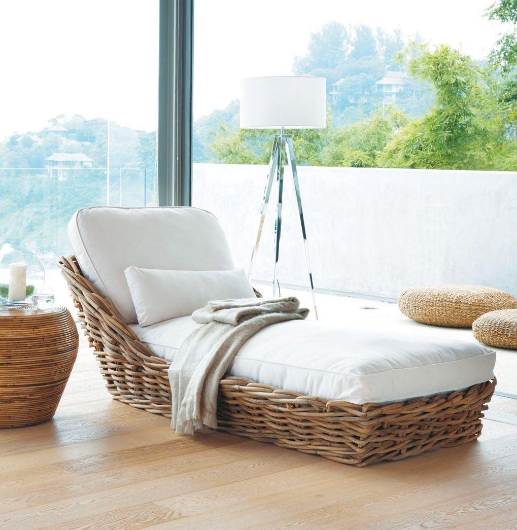 méridienne rotin coussin blanc parquet vitre table basse bois - blog déco - clem around the corner