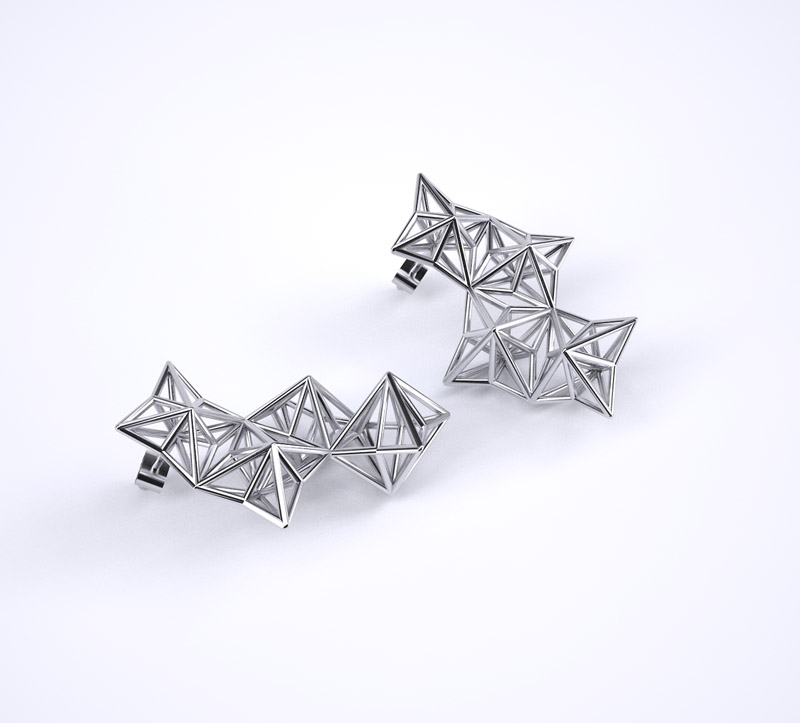 line pierron boucles d'oreilles en argent design architecture - blog déco - clem around the corner
