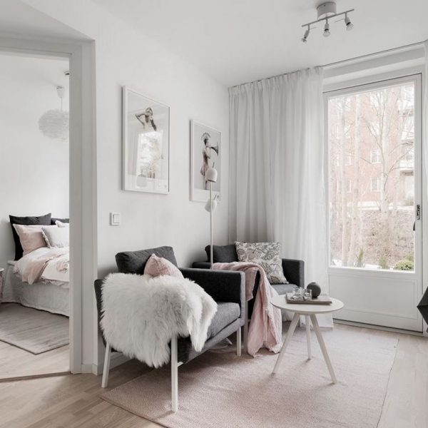 déco gris rose appartement scandinave - blog déco - clem around the corner
