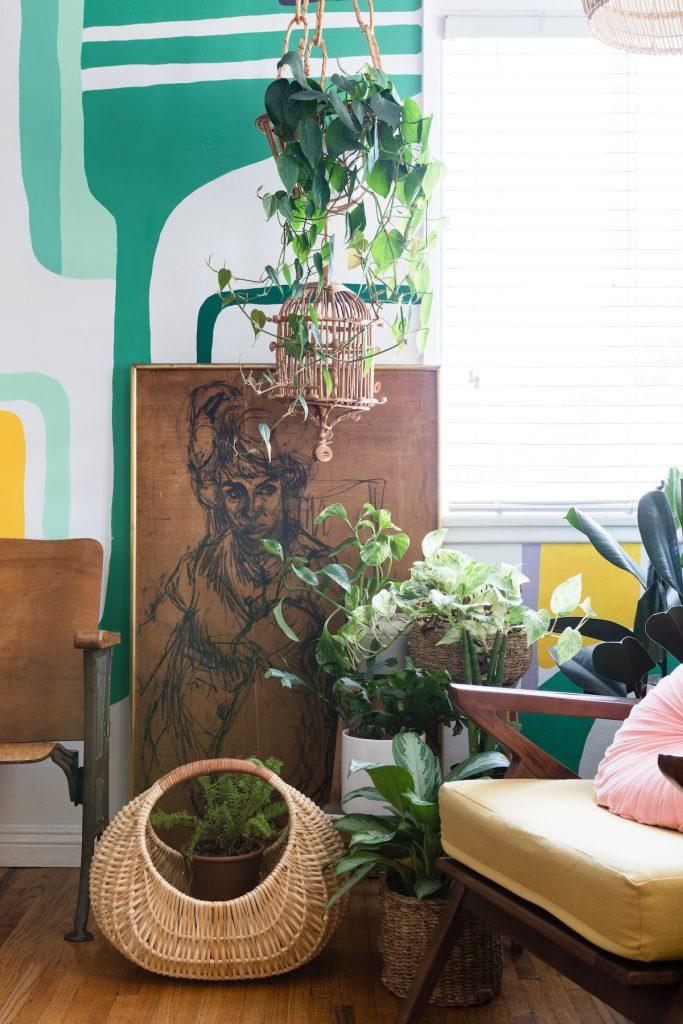 maison maximaliste art dessin cage oiseau bois salon - blog déco - clem around the corner