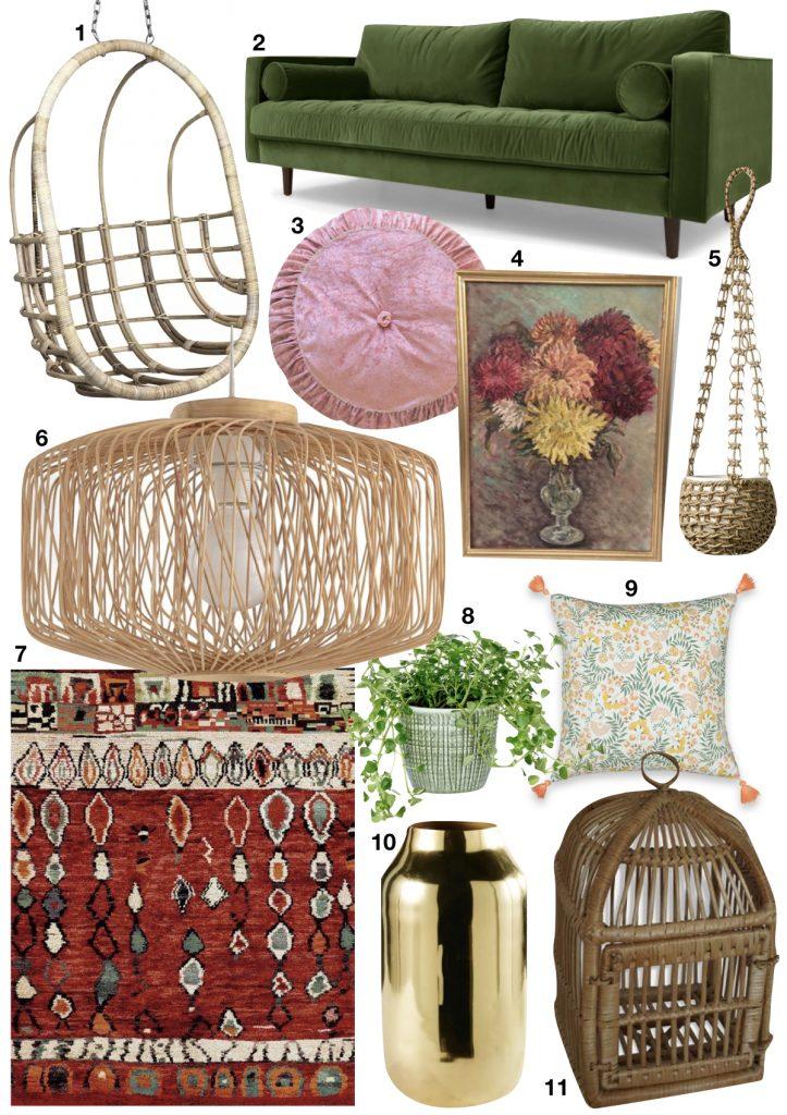 maison maximaliste shopping list - blog déco - clem around the corner