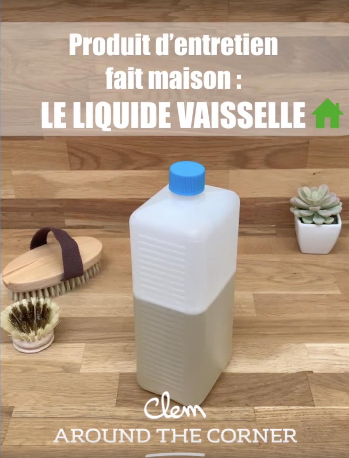 recette produit entretien fait maison liquide vaisselle ecofriendly - blog déco - clem around the corner