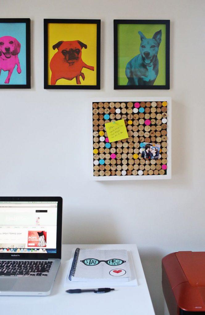 idée déco récup tableau affichage bouchon liège - blog déco - clem around the corner