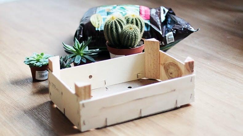 idée déco récup jardin caisse bois plantes - blog déco - clem around the corner