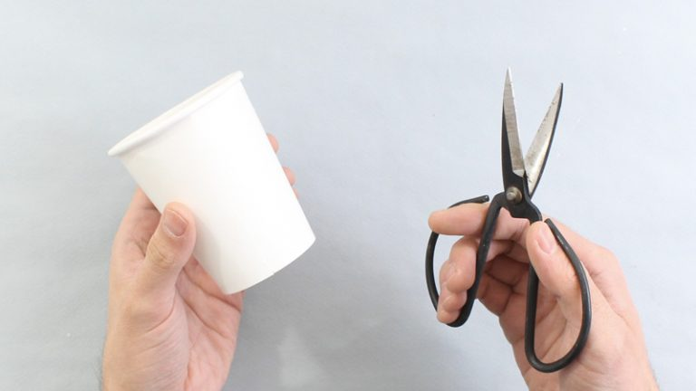 idée déco récup bricolage ciseaux gobelet - blog déco - clem around the corner