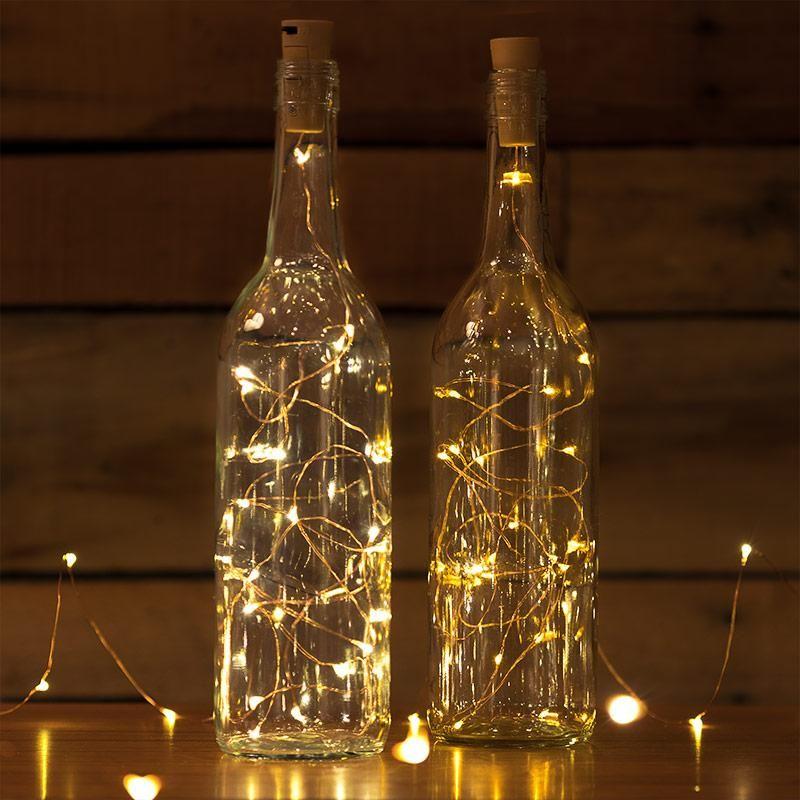 idée déco récup bouteille lumineuse - blog déco - clem around the corner