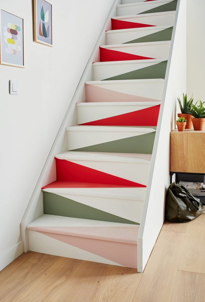 escaliers originaux un escalier peint effet papier plié - blog déco - clem around the corner
