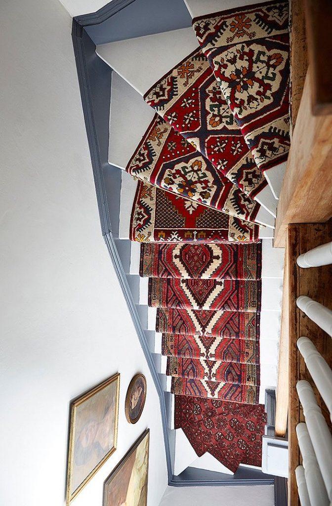 escaliers originaux vintage tapis diy - blog déco - clem around the corner
