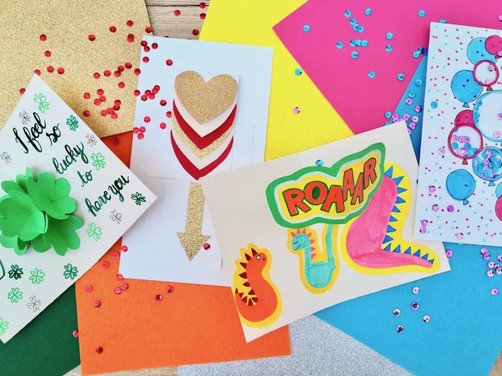 fête des mères pères idée originale anniversaire enfant carte de voeux diy - blog déco - clem around the corner