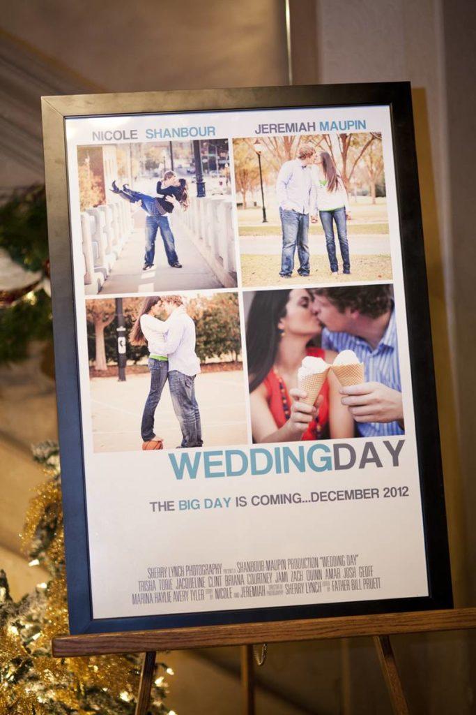 poster affiche de film faire part original mariage - blog déco - clemaroundthecorner