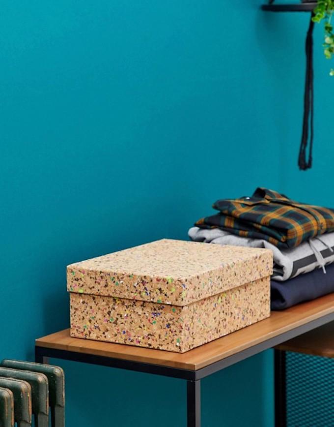 déco originale asos boite rangement liège banc bois métallique noir clemaroundthecorner