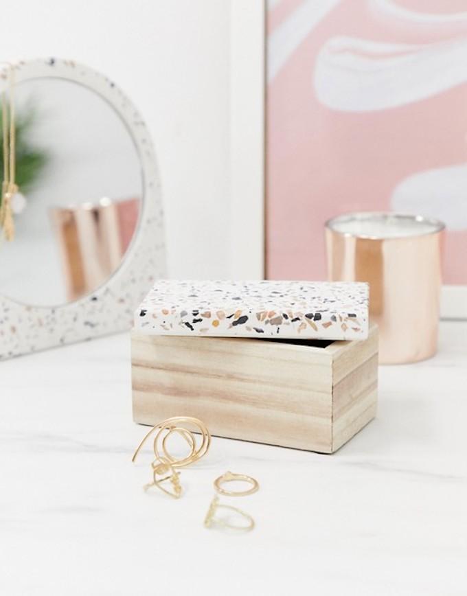 boite à bijoux bois terrazzo déco rangement clemaroundthecorner