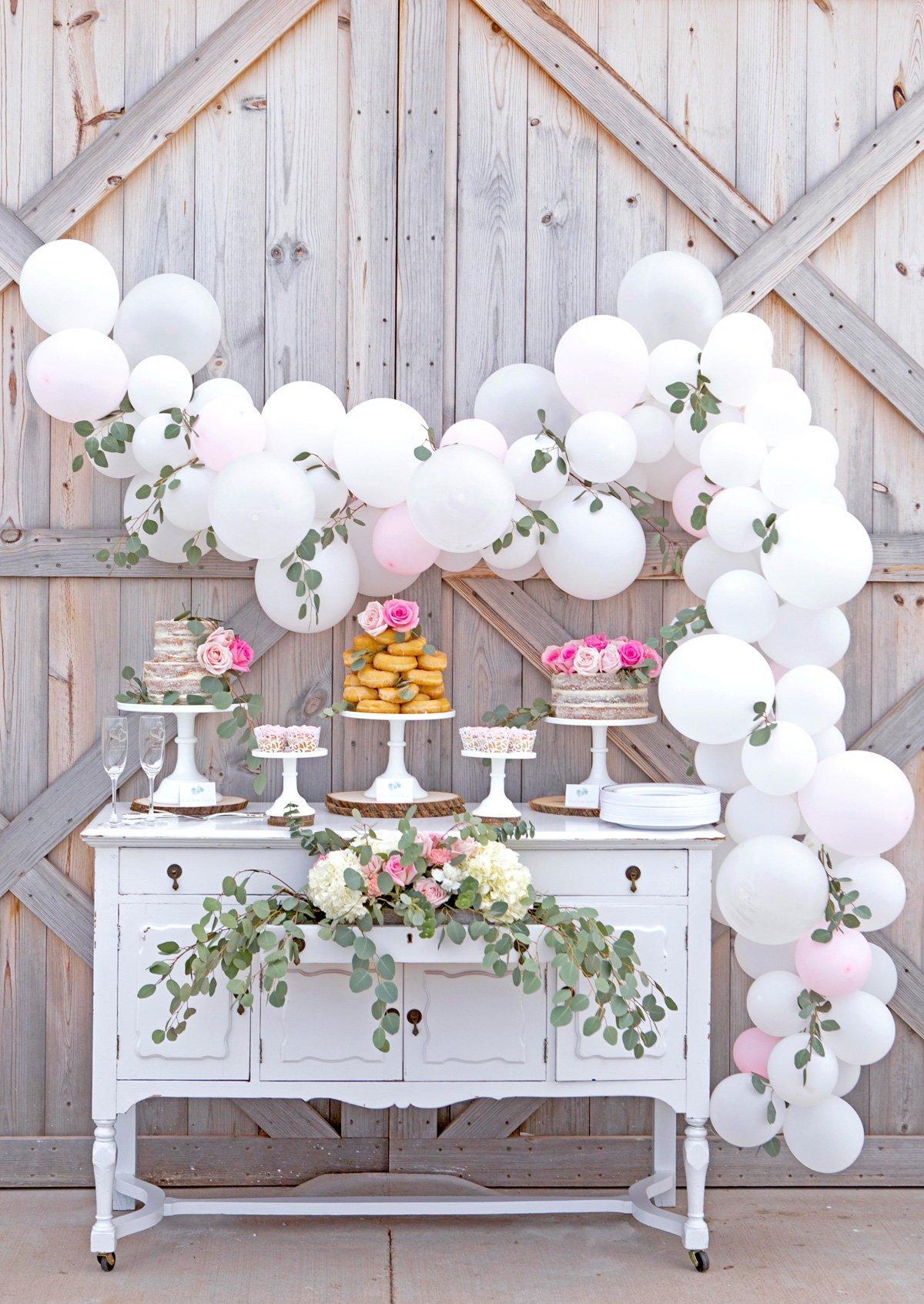 comment faire une guirlande de ballons decoration anniversaire mariage candy bar - blog déco - clem around the corner