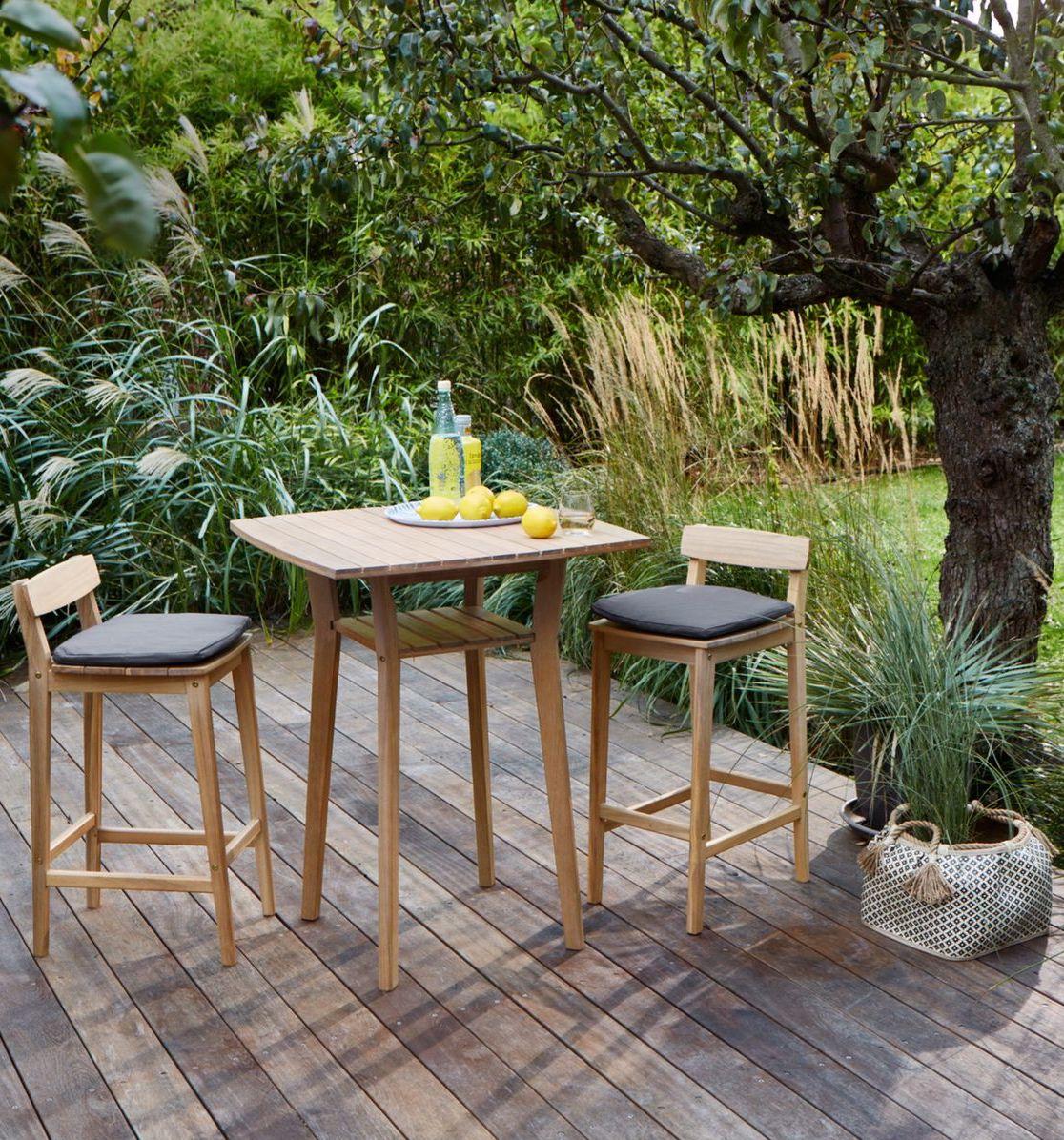 outdoor la redoute profiter de son jardin table haute bois