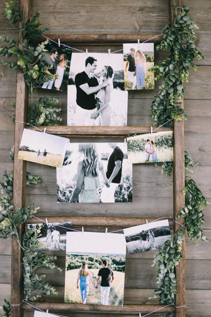 échelle photo souvenir couple décoration romantique - blog clem around the corner
