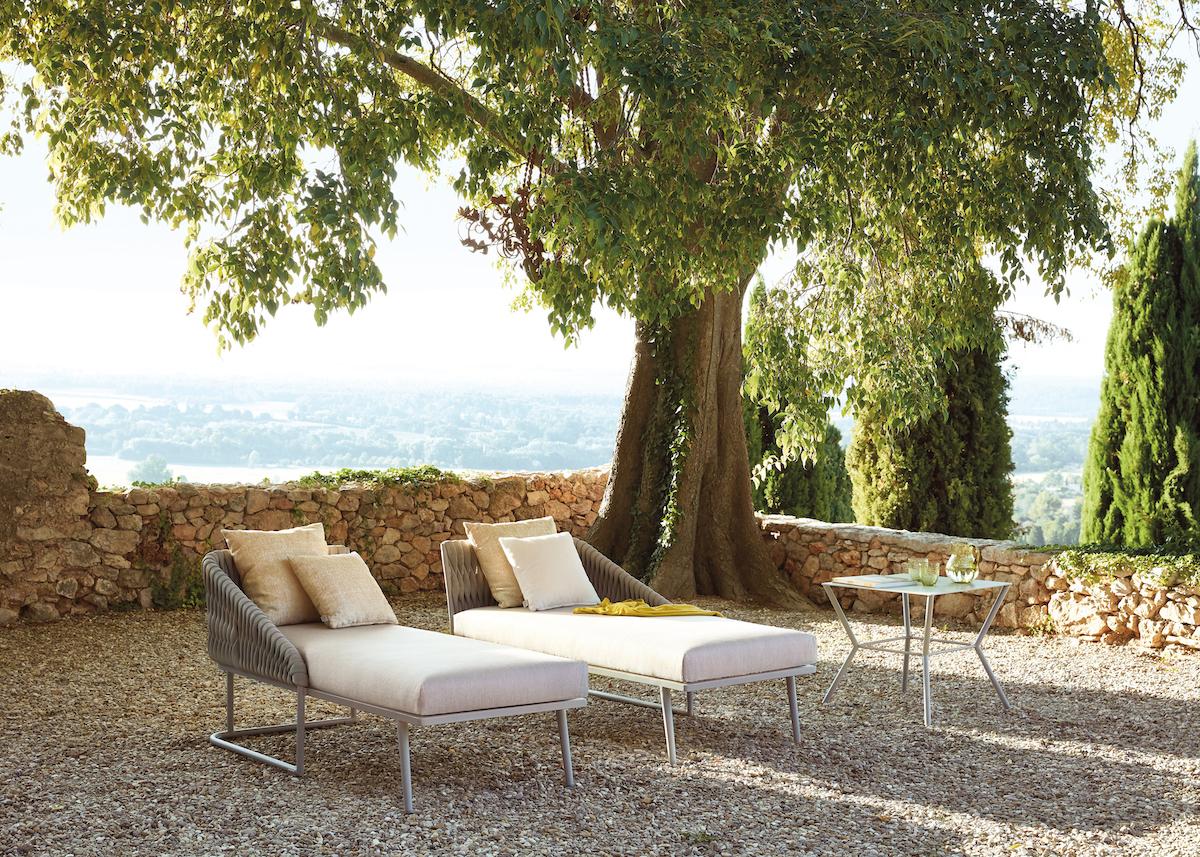 méridiennes chaise longue lit extérieur terrasse jardin été outdoor