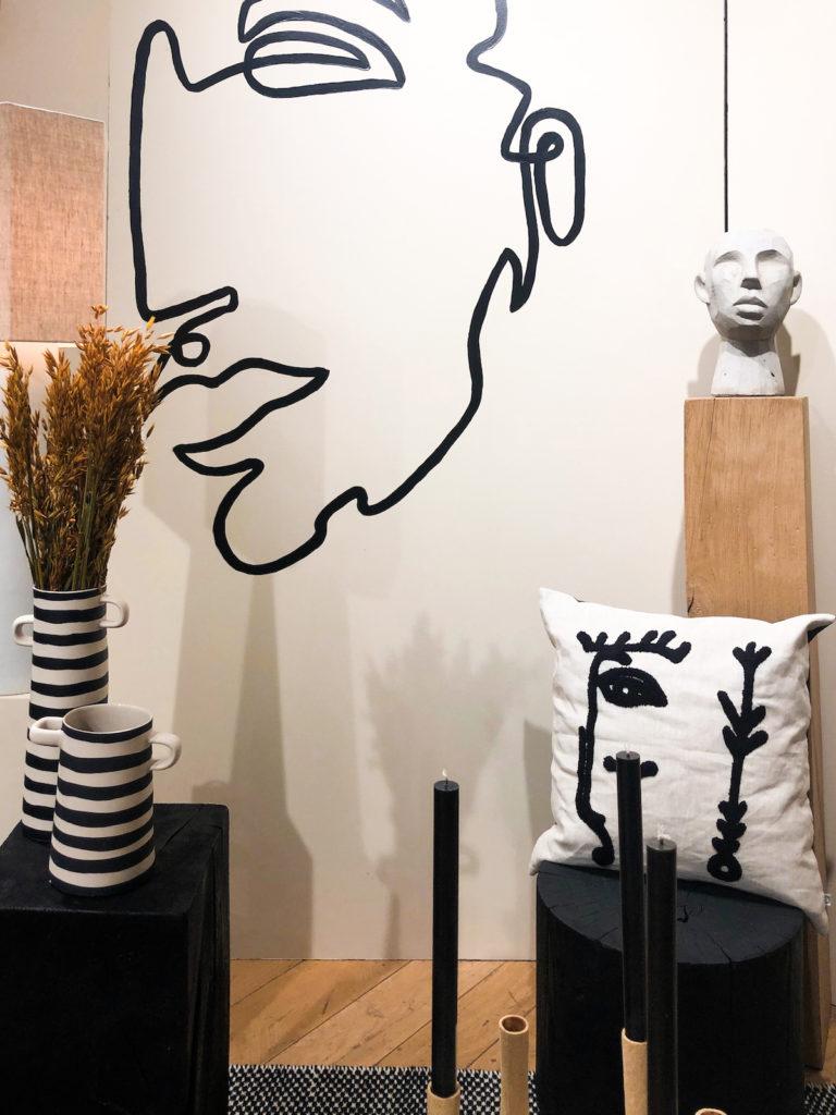 motif visage maison décoration tendance - blog déco - clem around the corner