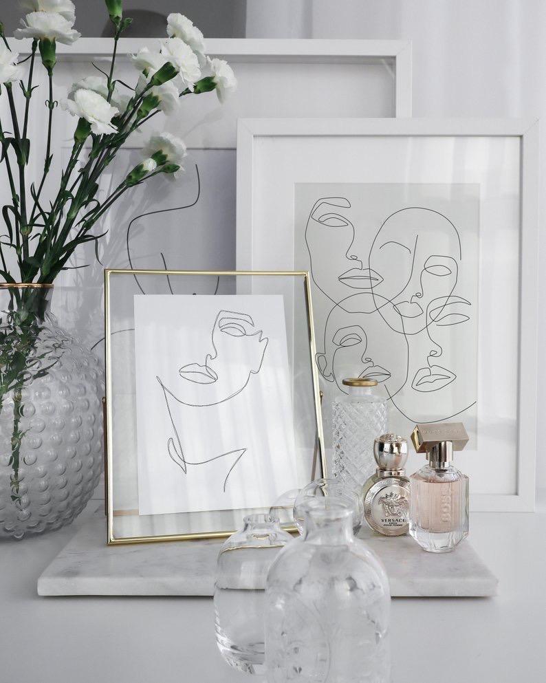 motif visage tableaux etsy décoration dessin - blog déco - clem around the corner