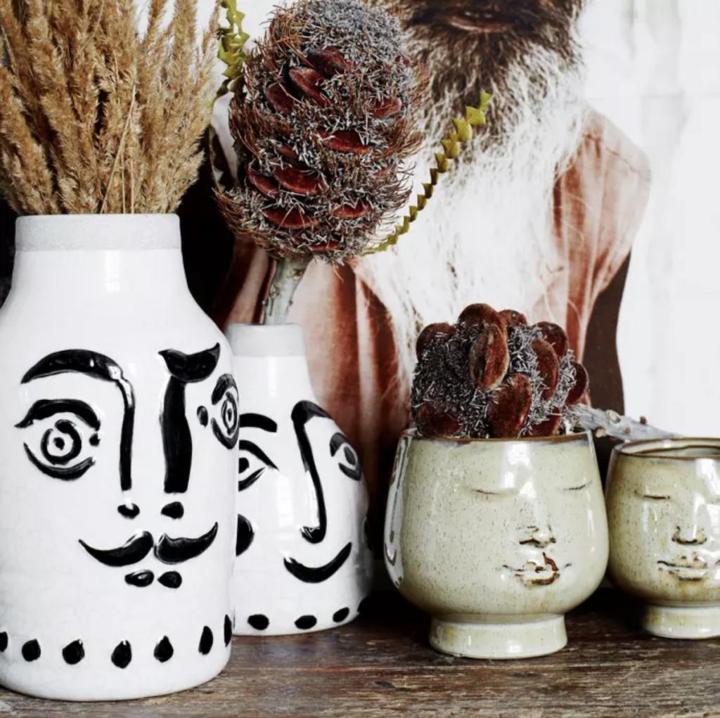 vase style artsy bucolique bohème décoration intérieure plantes