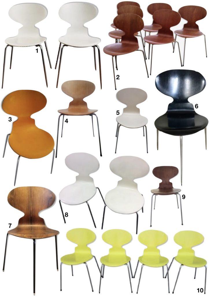 chaise fourmi d'Arne Jacobsen vintage occasion - blog déco - clem around the corner
