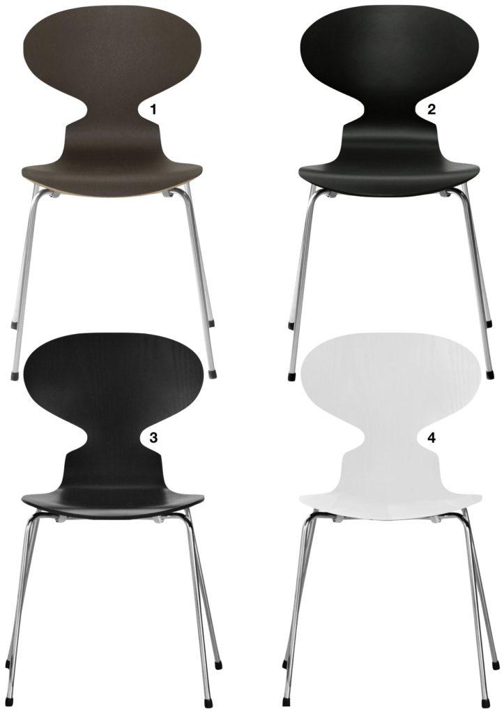 chaise fourmi d'Arne Jacobsen foncé quatre pieds - blog déco - clem around the corner