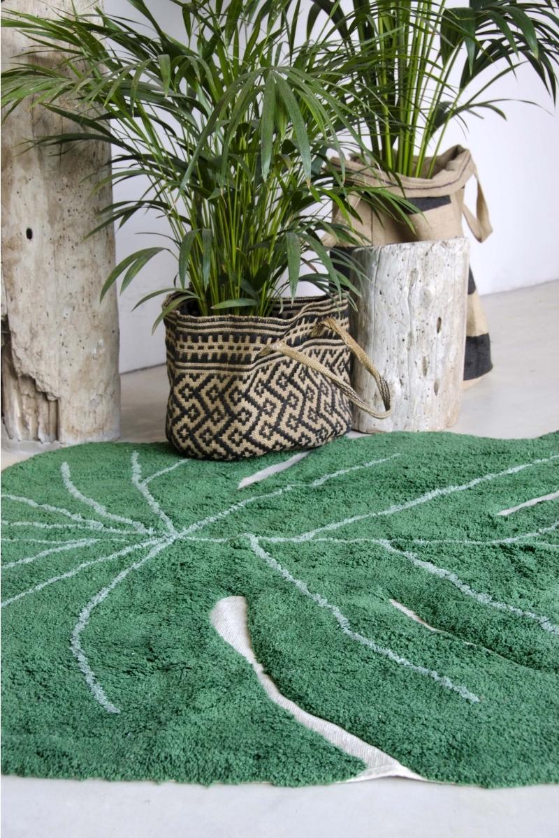 astuces tapis tropical vert bon plan studio étudiant - blog déco - clem around the corner