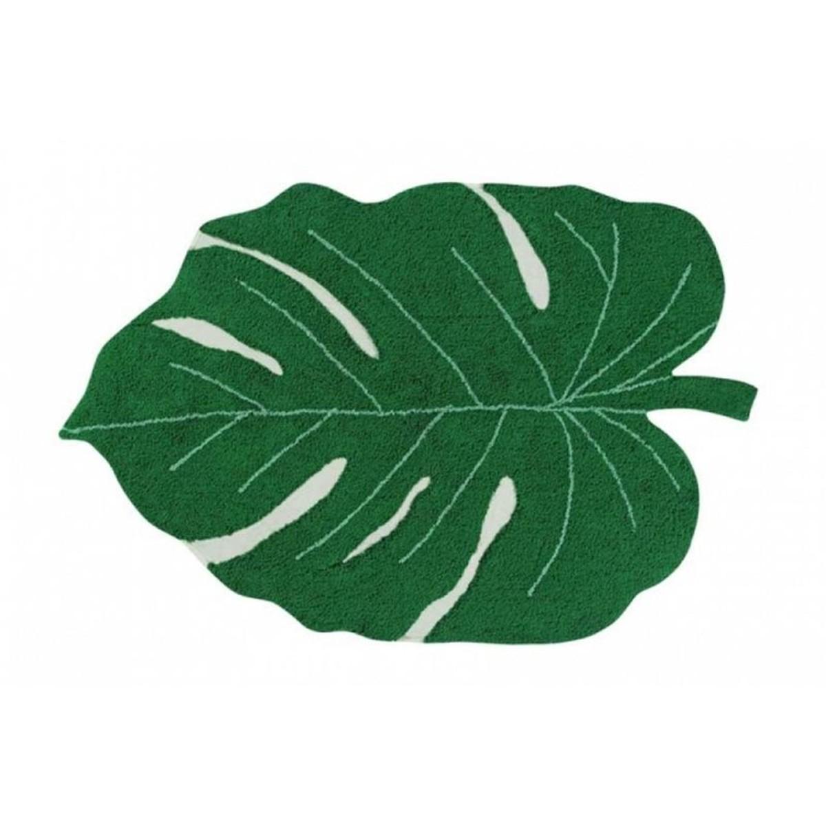 tapis bon plan étudiant feuille verte tropicale studio bricolage - blog déco - clem around the corner