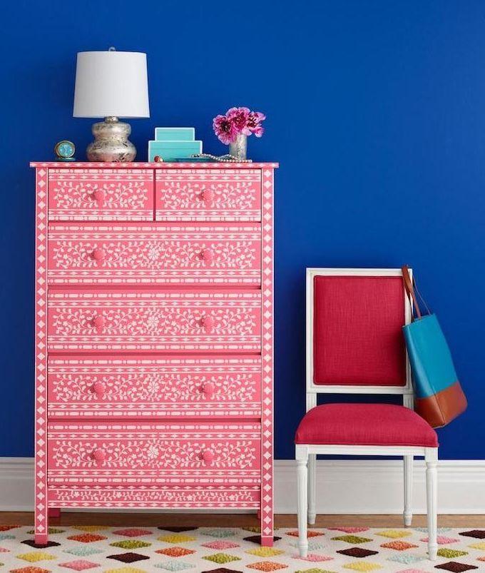 bons plans étudiant diy meuble rose blanc style bohémien - blog déco - clem around the corner
