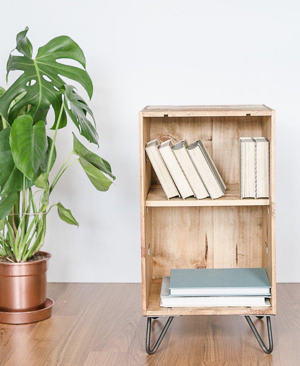bons plans caisse à vin bois rangement livre salon chambre diyb - blog déco - clem around the corner