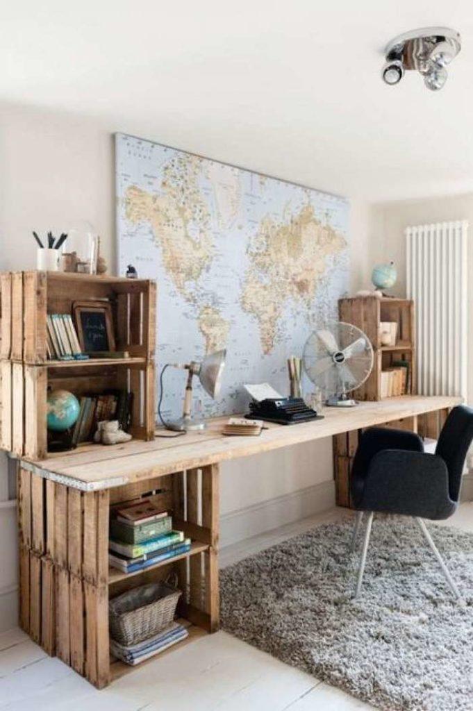 bons plans cagette bois bureau rangement étagère style rustique - blog déco - clem around the corner