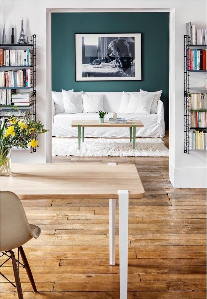astuces étudiantes pieds de tables amovibles métallique blanc vert - blog déco - clem around the corner