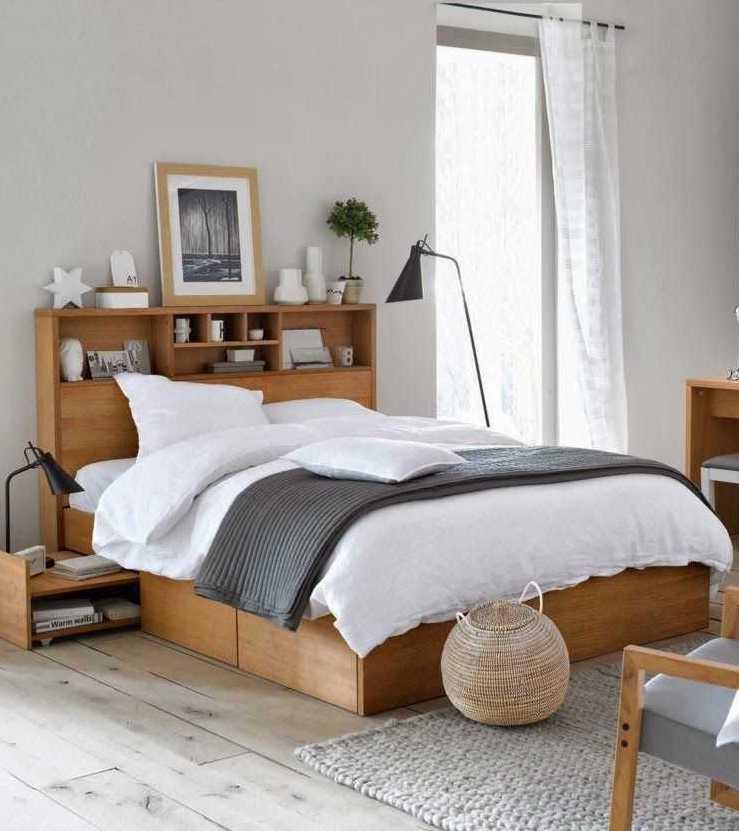 astuces chambre studio étudiant lit bois style scandi - blog déco - clem around the corner