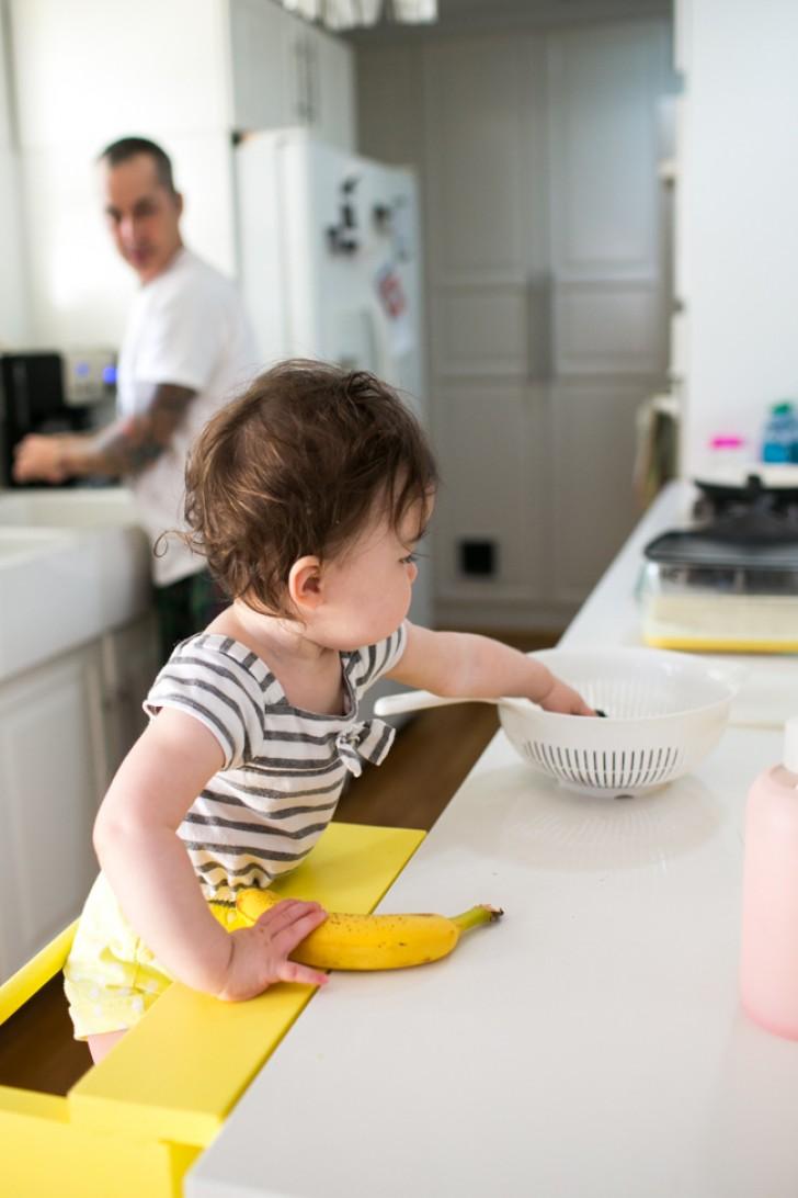 escabeau jaune bois pour enfant ikea hacks mobilier cuisine - blog déco - clem around the corner