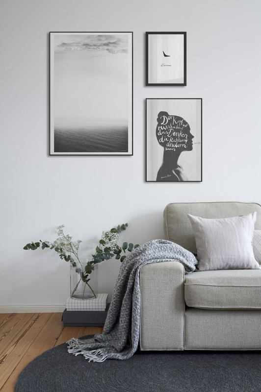 mur de cadres noir blanc design blog déco - clemaroundthecorner