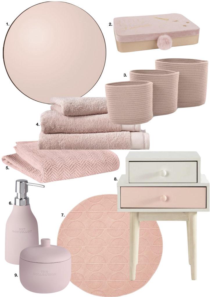 décoration accessoire salle de bain rose chic pastel - blog déco - clem around the corner