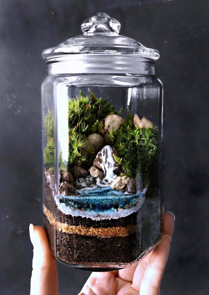 diy terrarium bonbonnière verre mini foret intérieur tutoriel hygge - blog déco- clem around the corner
