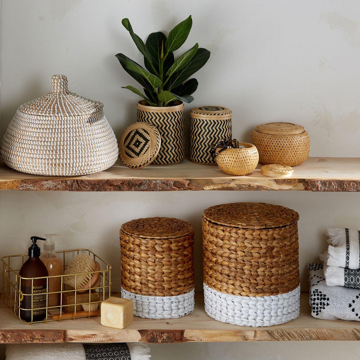 panier de rangement chambre étagère bois rangement salle de bain - blog déco - clem around the corner
