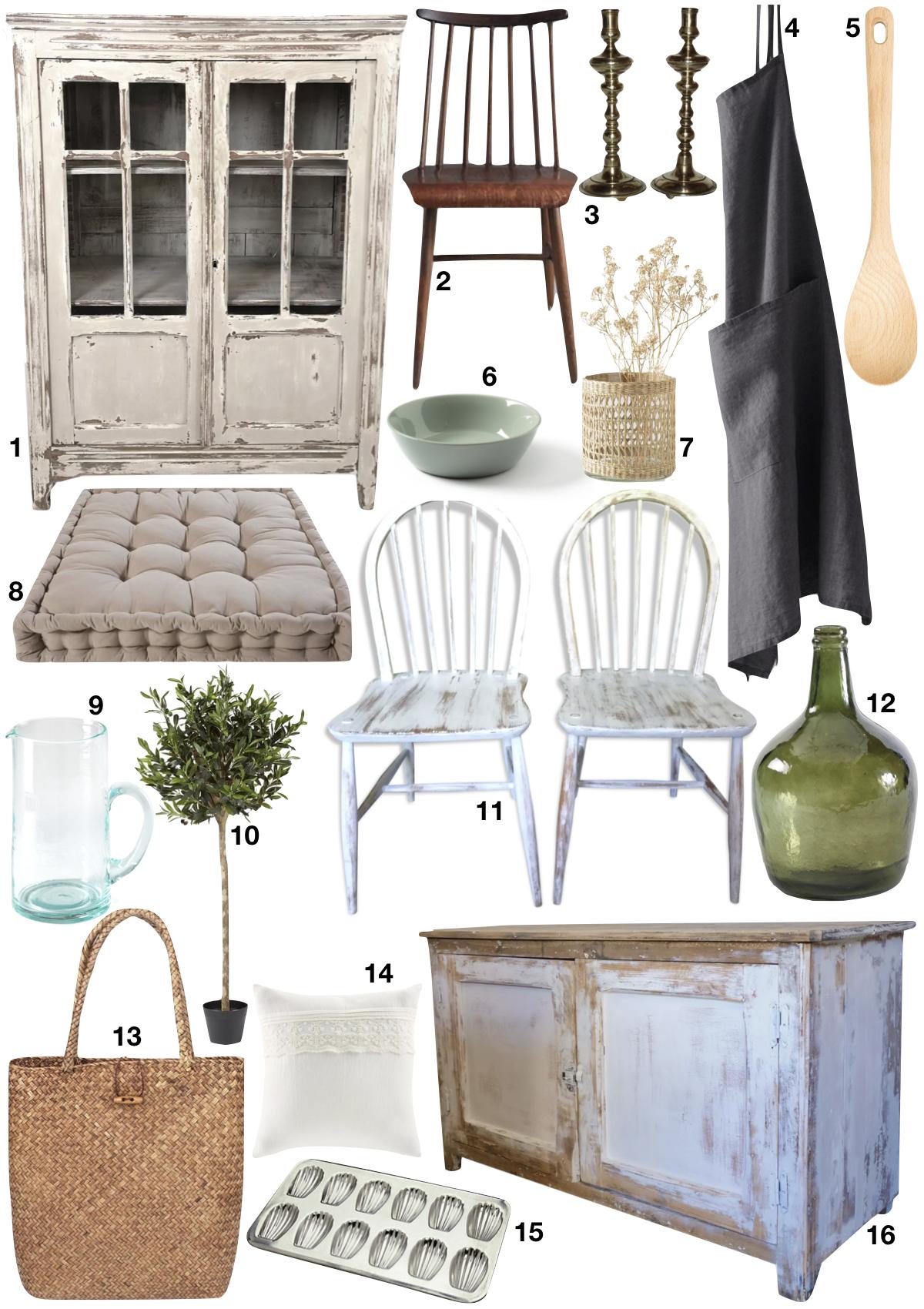maison style italien shopping liste campagne décoration rustique - blog déco - clem around the corner