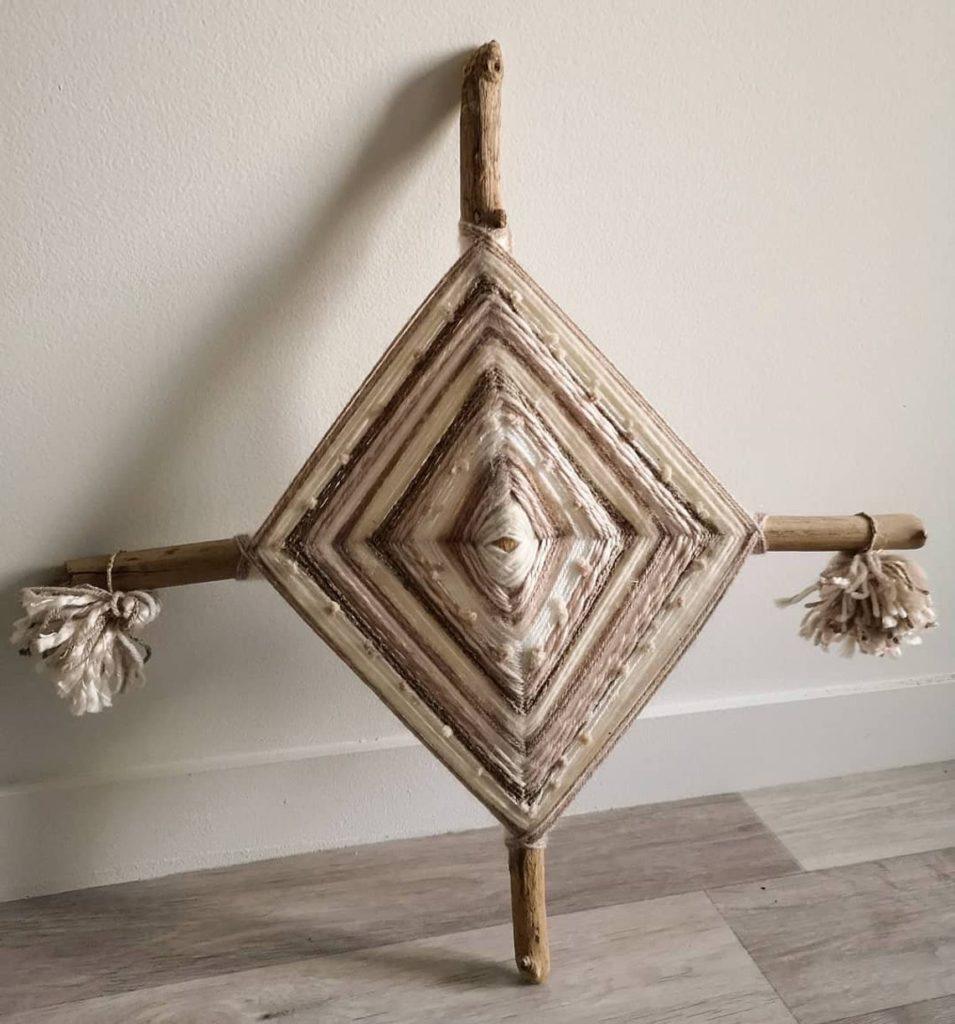 ojos de dios style scandinave tissage baton original ethnique - blog déco - clem around the corner