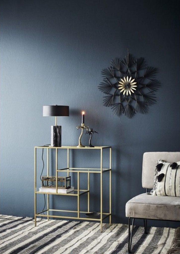 tendance néo art déco petite entrée noir et or décoration sombre - blog déco - clem around the corner