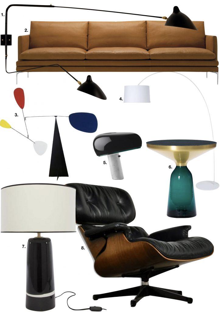 loft haussmannien fauteuil cuir canapé marron lampe - blog déco - clem around the corner