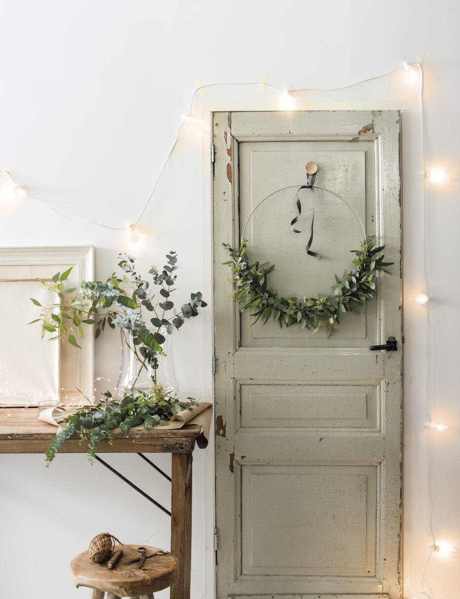 décoration esprit bohème naturel bouquet ruban bois guirlande laurier - blog déco - clem around the corner