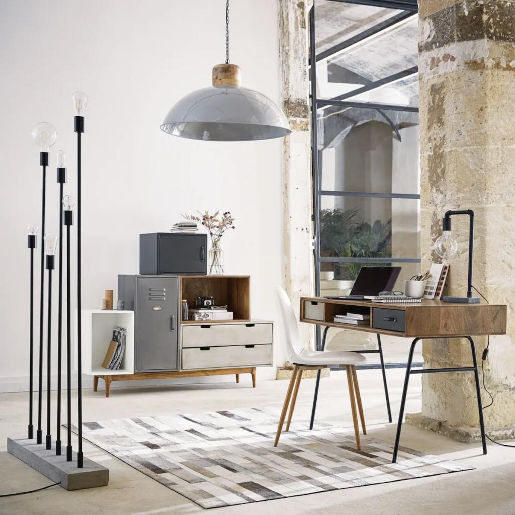 bureau faible profondeur espace de travail dans salon - blog déco - clem around the corner