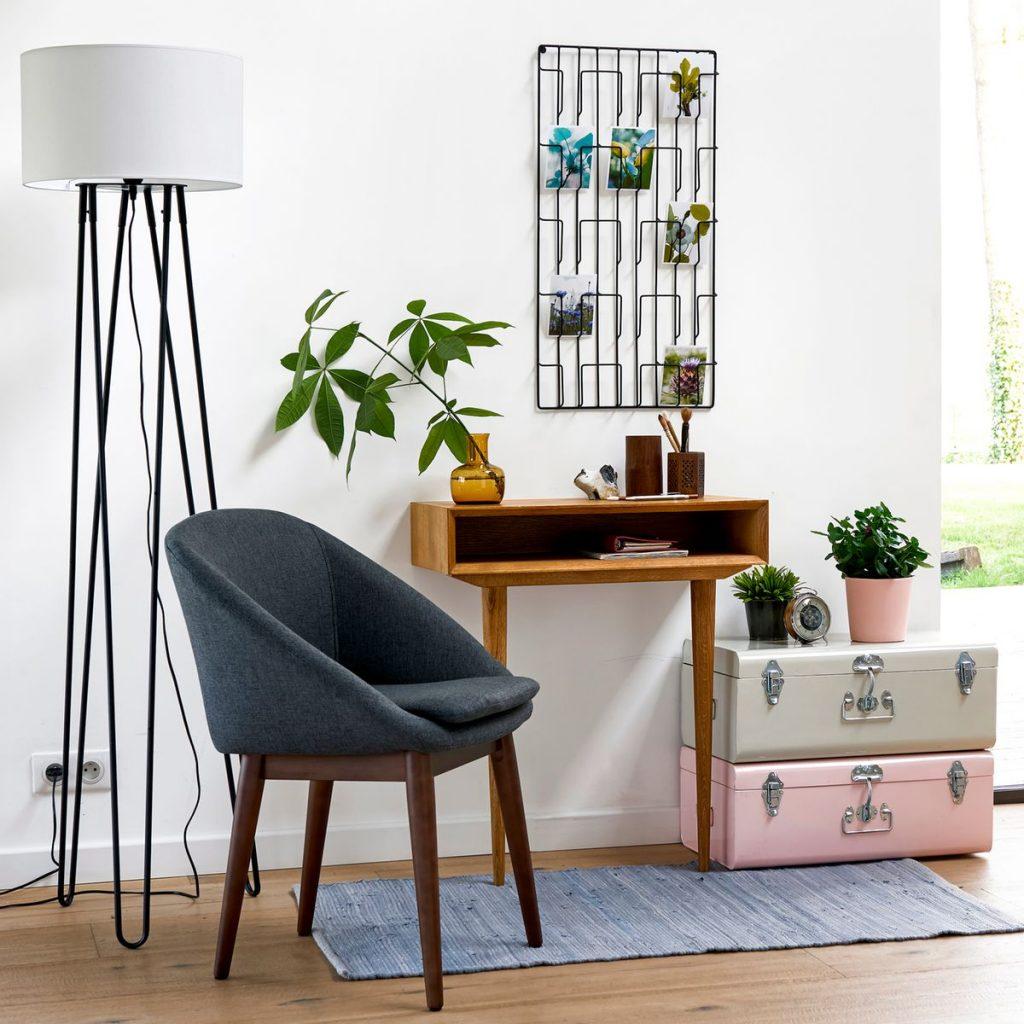 bureau faible profondeur plante verte éclectique original décoration - blog déco - clem around the corner