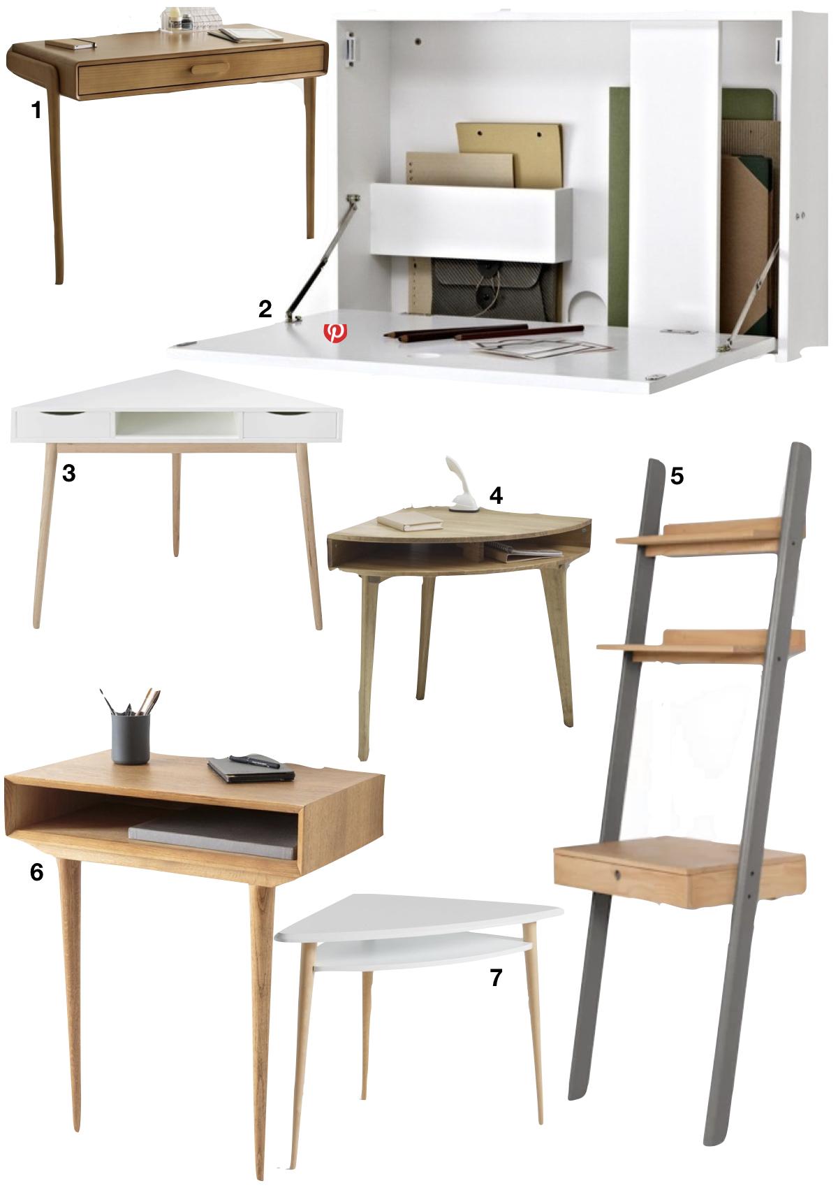 bureau faible profondeur shopping liste meuble salon - blog déco - clem around the corner