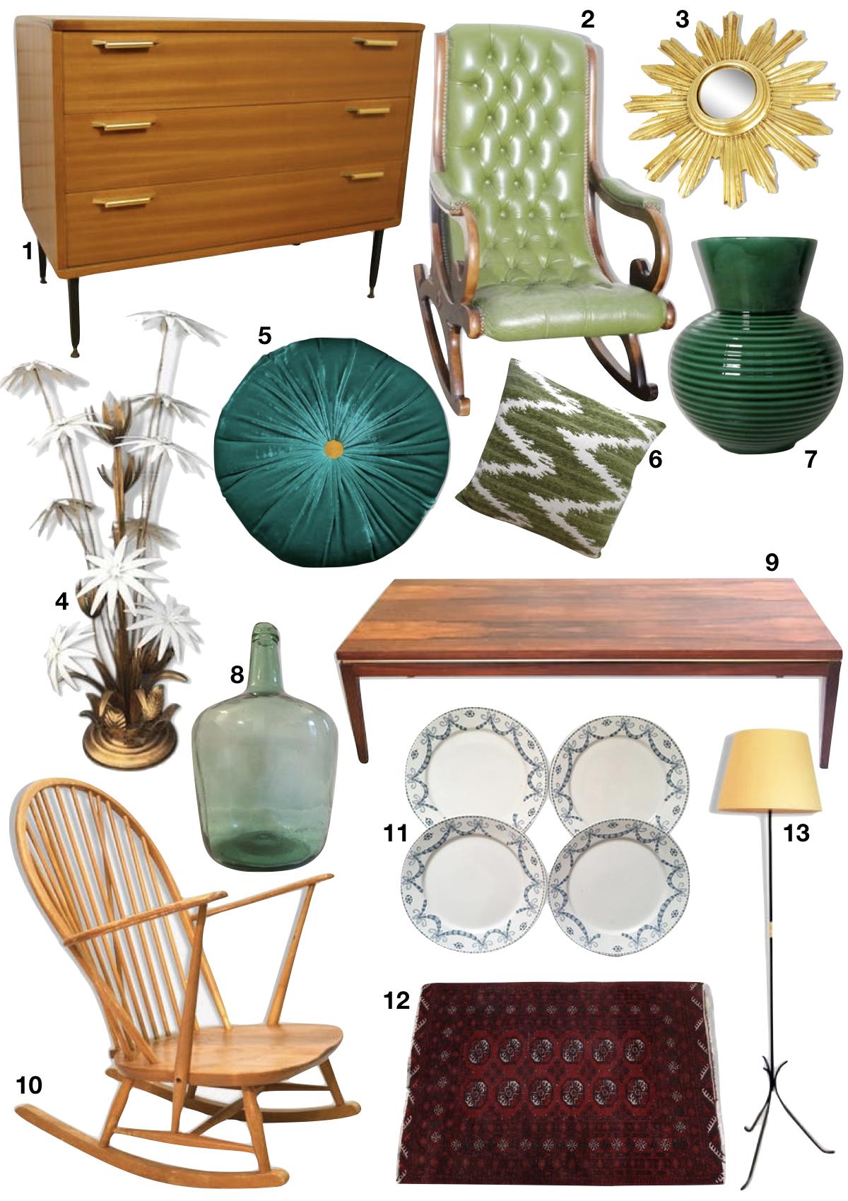 différence entre rétro et vintage en décoration shopping liste objets anciens - blog déco - clem around the corner