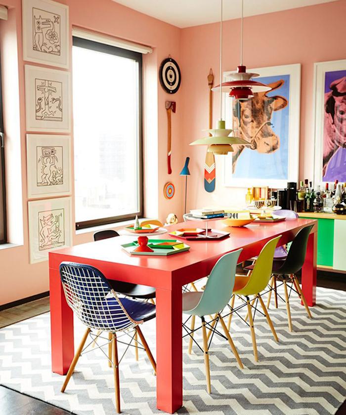 différence entre rétro et vintage en décoration salle à manger colorée originale - blog déco - clem around the corner