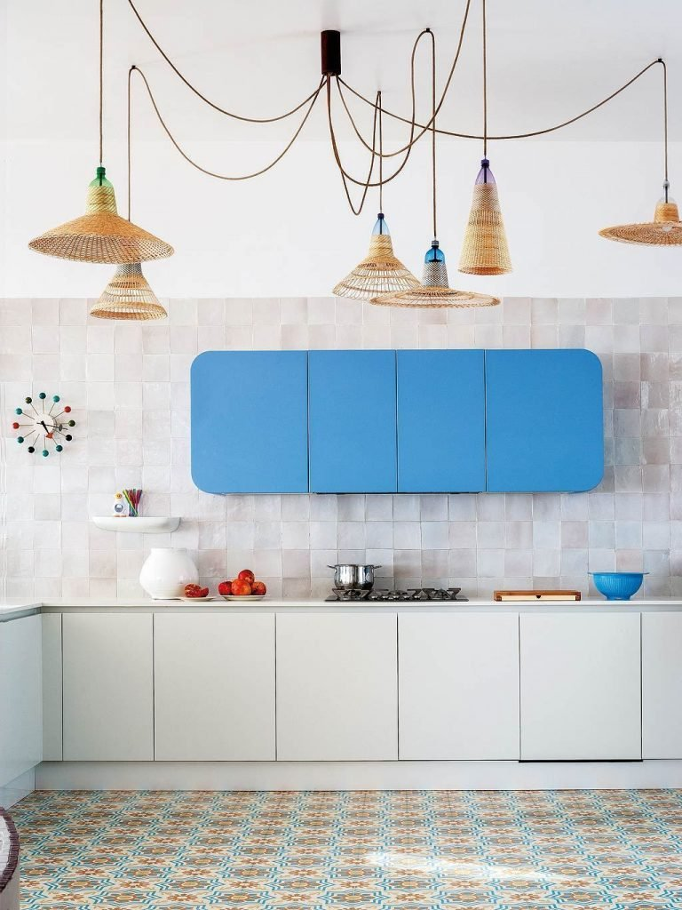cuisine bleue meuble original - blog déco - clem around the corner