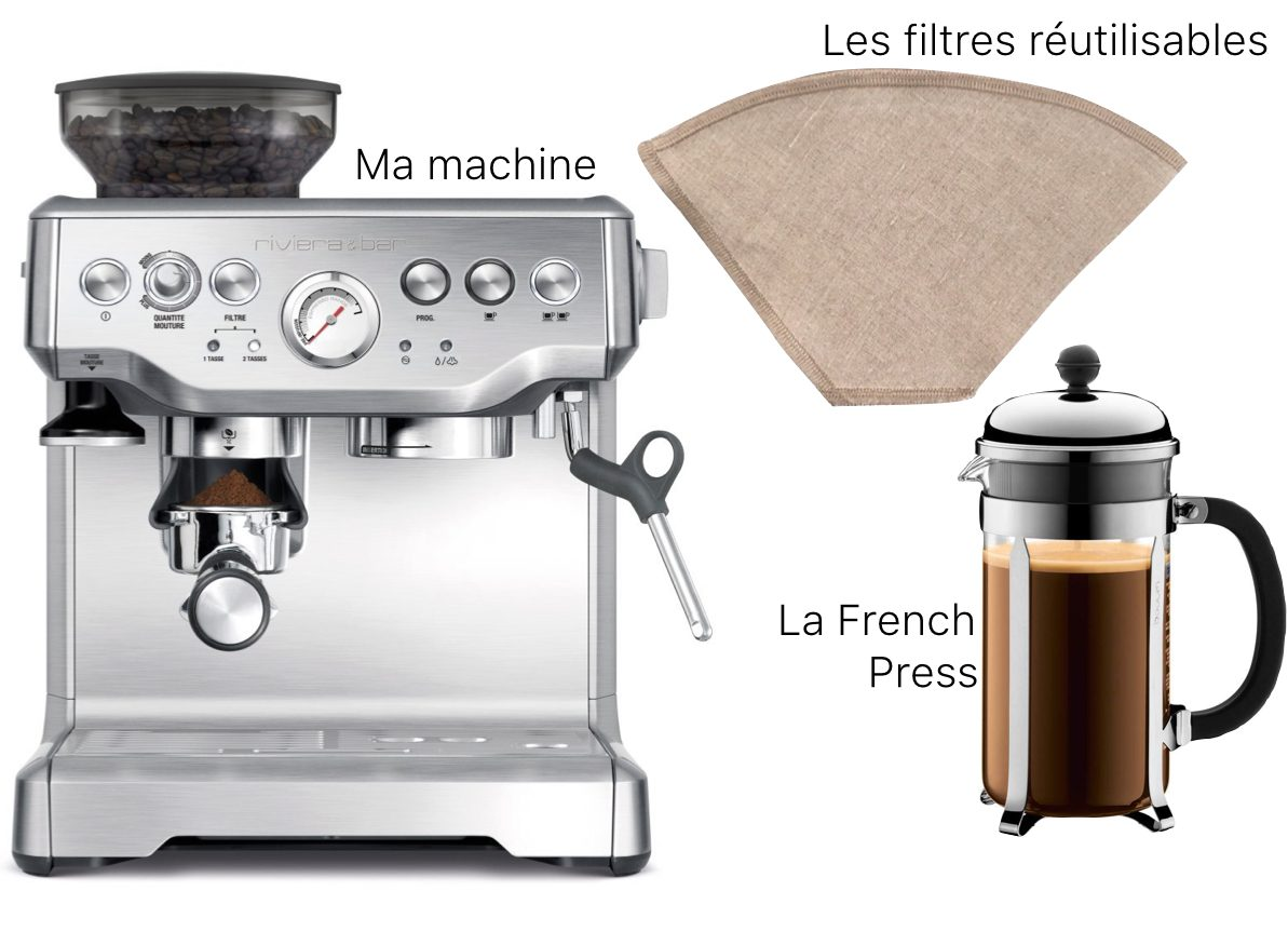 gestes éco-responsables dans la cuisine café machine - blog déco - clem around the corner